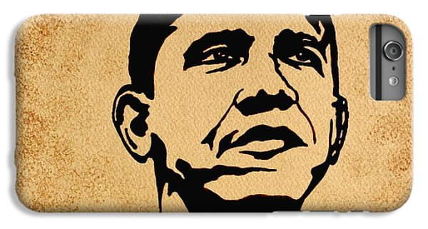 Barack Obama Original Coffee Painting IPhone 6 Plus Case by Georgeta  Blanaru