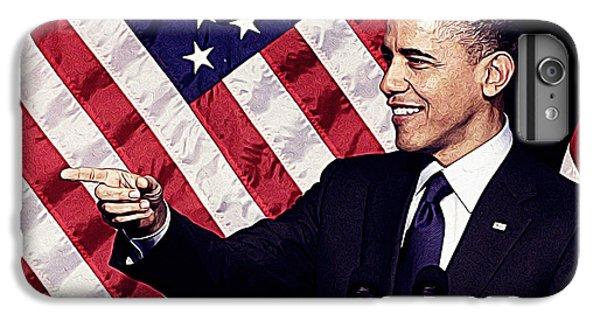 Barack Obama IPhone 6 Plus Case by Iguanna Espinosa