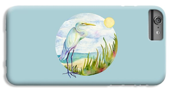 Beach Heron IPhone 6 Plus Case by Amy Kirkpatrick