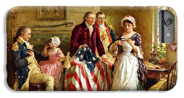 Betsy Ross And General George Washington IPhone 6 Plus Case by War Is Hell Store