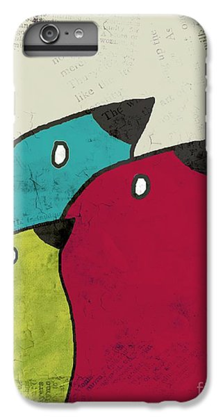 Birdies - V101s1t IPhone 6 Plus Case by Variance Collections