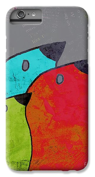 Birdies - V11b IPhone 6 Plus Case by Variance Collections
