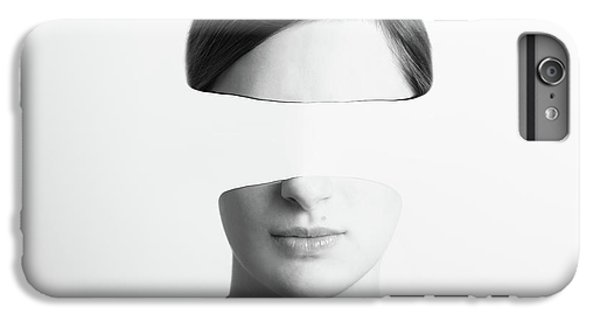 Black And White Abstract Woman Portrait Of Identity Theft Concept IPhone 6 Plus Case by Radu Bercan