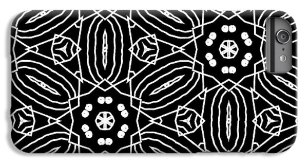 Black And White Boho Pattern 2- Art By Linda Woods IPhone 6 Plus Case by Linda Woods