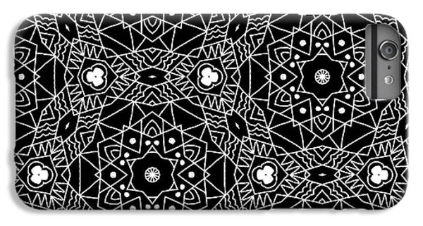 Black And White Boho Pattern 3- Art By Linda Woods IPhone 6 Plus Case by Linda Woods