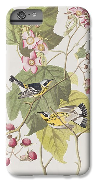 Black And Yellow Warblers IPhone 6 Plus Case by John James Audubon