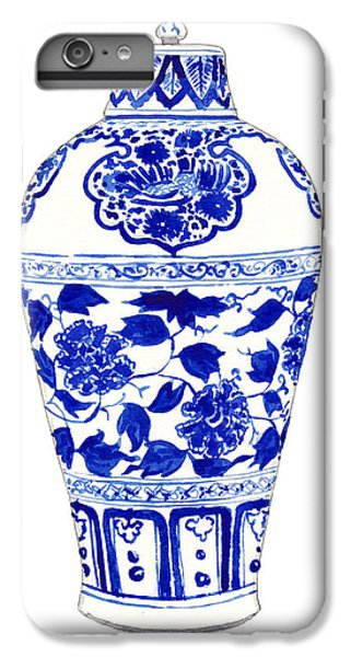 Blue And White Ginger Jar Chinoiserie Jar 1 IPhone 6 Plus Case by Laura Row