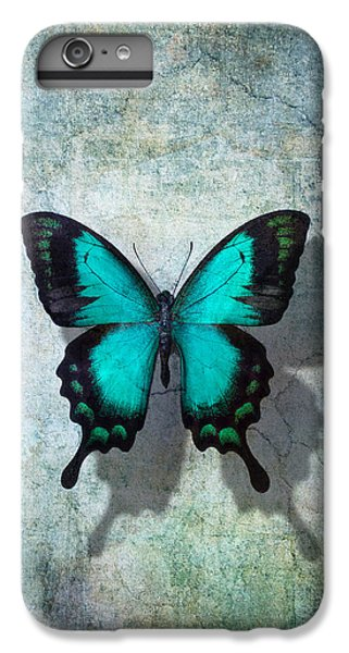 Blue Butterfly Resting IPhone 6 Plus Case by Garry Gay