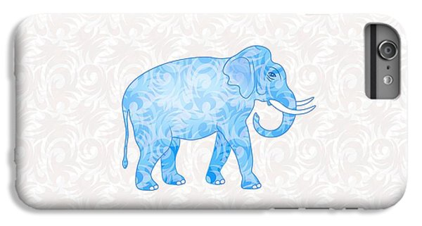 Blue Damask Elephant IPhone 6 Plus Case by Antique Images
