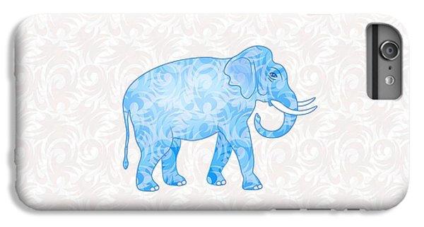 Blue Damask Elephant IPhone 6 Plus Case by Antique Images