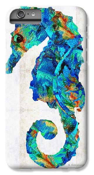 Blue Seahorse Art By Sharon Cummings IPhone 6 Plus Case by Sharon Cummings