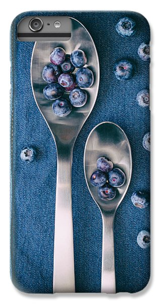 Blueberries On Denim I IPhone 6 Plus Case by Tom Mc Nemar