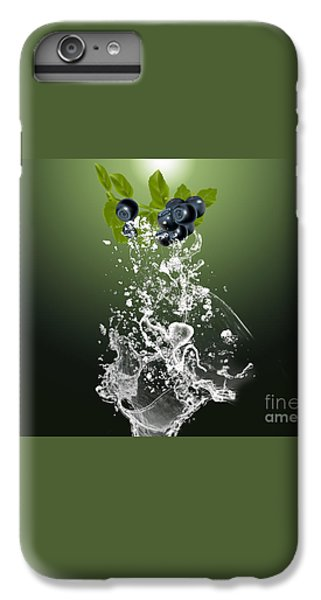 Blueberry Splash IPhone 6 Plus Case by Marvin Blaine