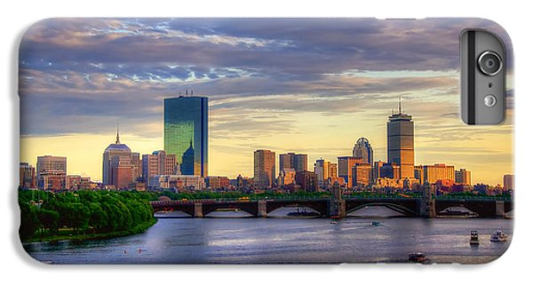 Boston Skyline Sunset Over Back Bay IPhone 6 Plus Case by Joann Vitali