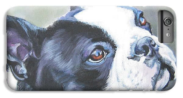 boston Terrier butterfly IPhone 6 Plus Case by Lee Ann Shepard