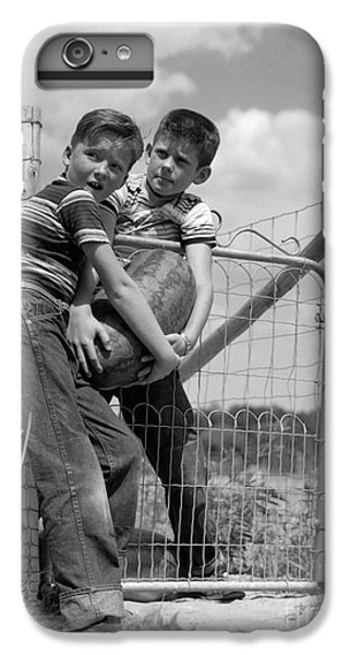 Boys Stealing A Watermelon, C.1950s IPhone 6 Plus Case by H. Armstrong Roberts/ClassicStock