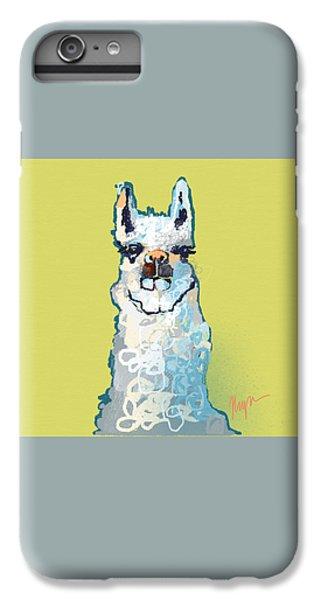 Bright Mustard Llama IPhone 6 Plus Case by Niya Christine