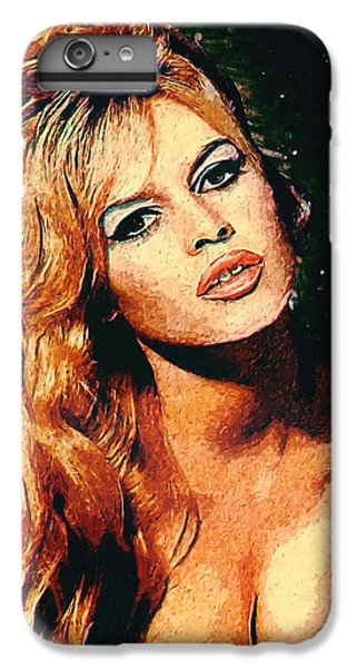 Brigitte Bardot IPhone 6 Plus Case by Taylan Soyturk