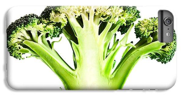Broccoli Cutaway On White IPhone 6 Plus Case by Johan Swanepoel