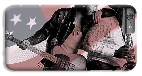 Bruce Springsteen Clarence Clemons IPhone 6 Plus Case by Marvin Blaine