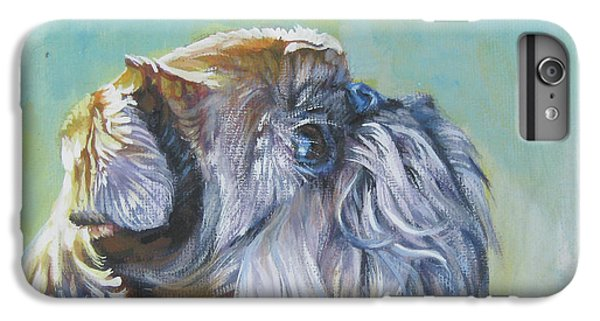 Brussels Griffon With Butterfly IPhone 6 Plus Case by Lee Ann Shepard