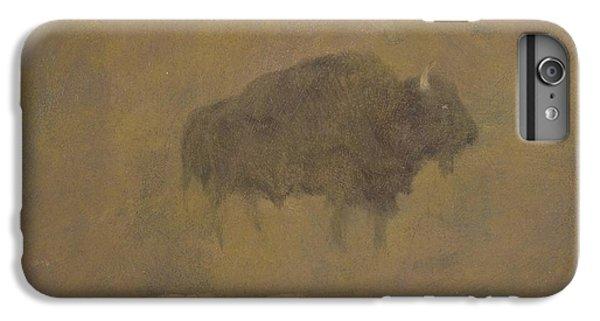 Buffalo In A Sandstorm IPhone 6 Plus Case by Albert Bierstadt