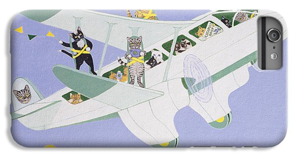 Cat Air Show IPhone 6 Plus Case by Pat Scott