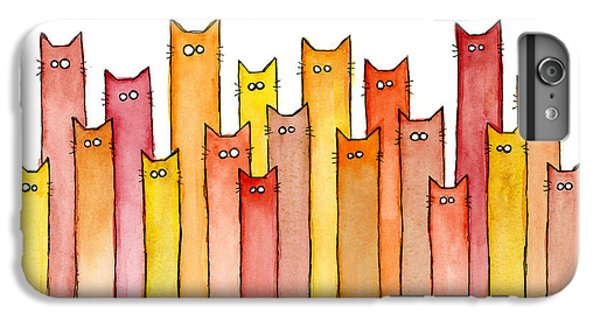 Cats Autumn Colors IPhone 6 Plus Case by Olga Shvartsur