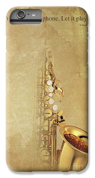 Charlie Parker Saxophone Brown Vintage Poster And Quote, Gift For Musicians IPhone 6 Plus Case by Pablo Franchi