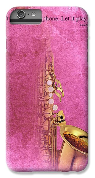 Charlie Parker Saxophone Light Red Vintage Poster And Quote, Gift For Musicians IPhone 6 Plus Case by Pablo Franchi
