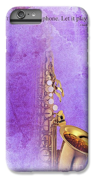 Charlie Parker Saxophone Purple Vintage Poster And Quote, Gift For Musicians IPhone 6 Plus Case by Pablo Franchi