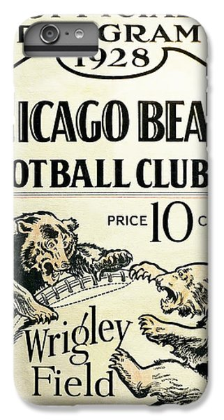 Chicago Bears Football Club Program Cover 1928 IPhone 6 Plus Case by Daniel Hagerman