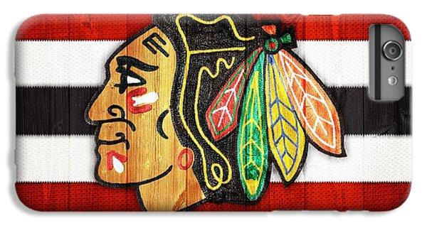 Chicago Blackhawks Barn Door IPhone 6 Plus Case by Dan Sproul