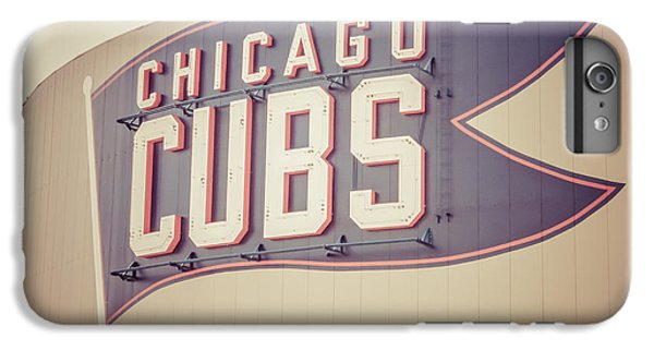 Chicago Cubs Sign Vintage Picture IPhone 6 Plus Case by Paul Velgos