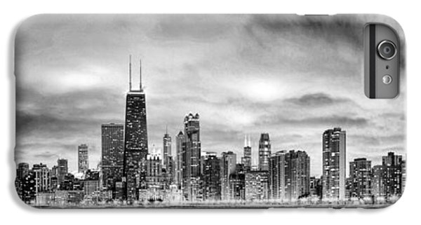 Chicago Gotham City Skyline Black And White Panorama IPhone 6 Plus Case by Christopher Arndt
