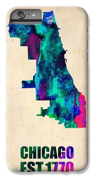 Chicago Watercolor Map IPhone 6 Plus Case by Naxart Studio