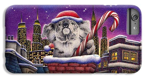 Christmas Koala In Chimney IPhone 6 Plus Case by Remrov