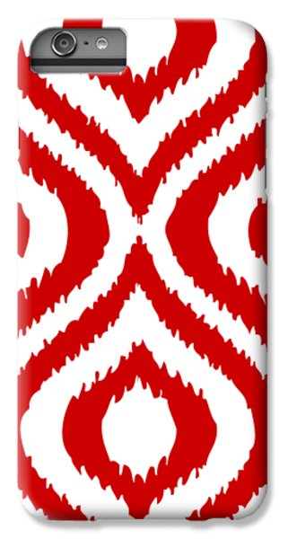 Circle And Oval Ikat In White T02-p0100 IPhone 6 Plus Case by Custom Home Fashions