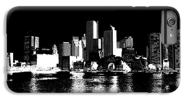City Of Boston Skyline   IPhone 6 Plus Case by Enki Art