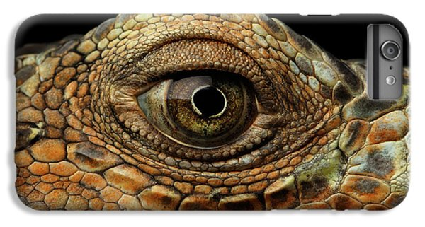 Closeup Eye Of Green Iguana, Looks Like A Dragon IPhone 6 Plus Case by Sergey Taran