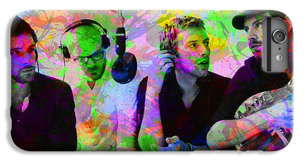 Coldplay Band Portrait Paint Splatters Pop Art IPhone 6 Plus Case by Design Turnpike