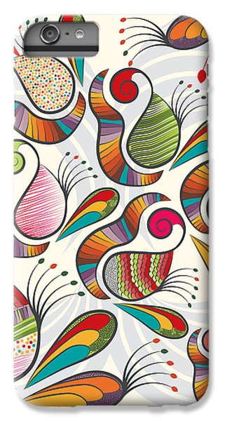 Colorful Paisley Pattern IPhone 6 Plus Case by Famenxt DB