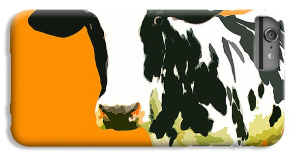 Cow In Orange World IPhone 6 Plus Case by Peter Oconor