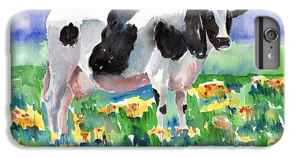 Cow In The Meadow IPhone 6 Plus Case by Arline Wagner