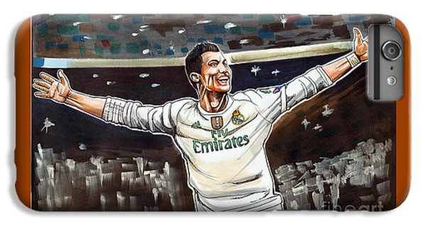 Cristiano Ronaldo Of Real Madrid IPhone 6 Plus Case by Dave Olsen