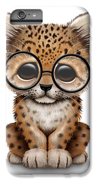 Cute Baby Leopard Cub Wearing Glasses IPhone 6 Plus Case by Jeff Bartels