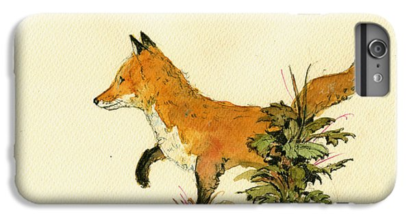 Cute Fox In The Forest IPhone 6 Plus Case by Juan  Bosco