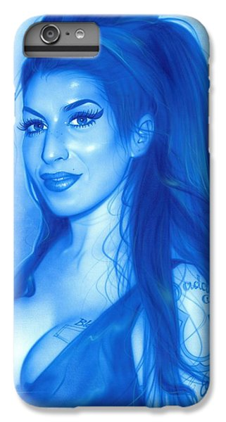 Amy Winehouse - ' Daddy's Girl ' IPhone 6 Plus Case by Christian Chapman Art