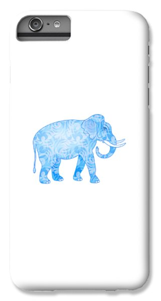 Damask Pattern Elephant IPhone 6 Plus Case by Antique Images