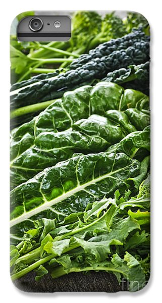Dark Green Leafy Vegetables IPhone 6 Plus Case by Elena Elisseeva